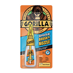 Gorilla Super Glue Brush & Nozzle - 12g