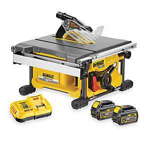 DEWALT DCS7485T2 XR Flexvolt 54V 210mm Cordless Brushless Table Saw with 2 x 6.0Ah Batteries
