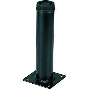 Wickes Round Interior Furniture Leg - Black 32 x 150mm