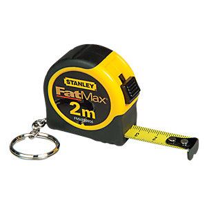 Stanley Keychain Tape Measure - 2m