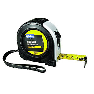 Wickes Heavy Duty Rugged Tape Measure - 10m