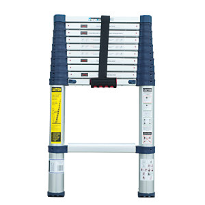 Xtend+climb 820P Pro Series Aluminium Telescopic Ladder - Max Height 3.1m