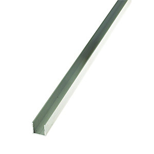 Wickes 15.5mm Multi-Purpose Square Tube - Aluminium 1m