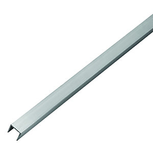 Wickes 19.5mm Multi-Purpose U Section - Aluminium 1m