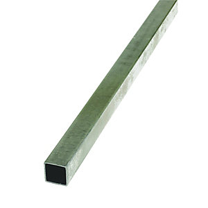 Wickes 20mm Multi-Purpose Square Tube - Steel 2m