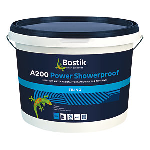 Bostik Water Resistant Ready Mixed Power Showerproof Tile Adhesive A200 - 10L