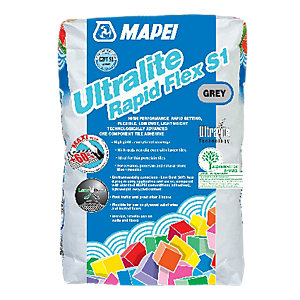 Mapei Ultralite Rapid Flex S1 Tile Adhesive Grey 15kg