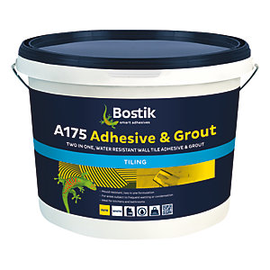 Bostik Ready Mixed Tile Adhesive & Grout - 10L White