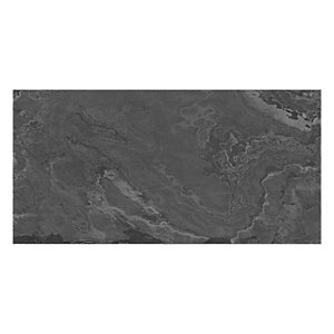 Wickes Black Slate Effect Wall and Floor Tile 670mm x 330mm Sample