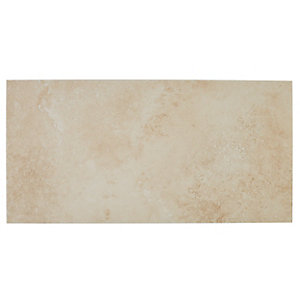 Wickes Brook Beige Porcelain Tile 600 x 300mm Sample