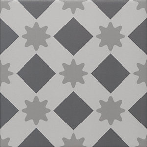 Wickes Winchester Star Grey Ceramic Tile 200 x 200mm Sample