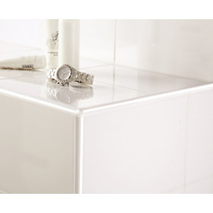 Homelux 8mm PVC Quadrant White Tile Trim
