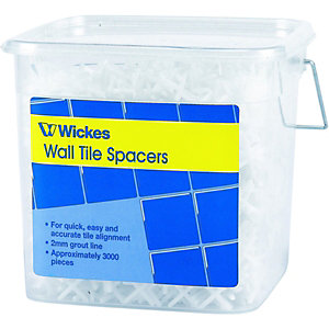 Wickes Wall Tile Spacers 2mm 3000 Pack