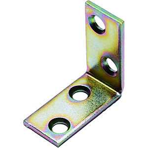 Wickes 30mm Galvanised Angle Bracket - Pack of 4