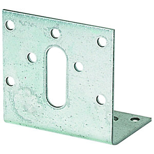 Wickes Galvanised Angle Bracket 80 x 40 x 46mm