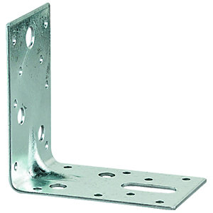 Wickes Galvanised Heavy Duty Angle Bracket 150x150x63mm
