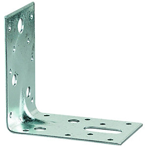 Wickes Galvanised Heavy Duty Angle Bracket 87 x 87 x 25mm