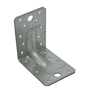 Wickes Reinforced Angle Bracket E4 100x60x75mm
