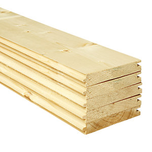 Wickes PTG Timber Floorboards - 18mm x 119mm x 2400mm Pack of 5