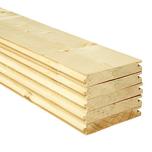 Wickes PTG Timber Floorboards - 18mm x 119mm x 3000mm Pack of 5