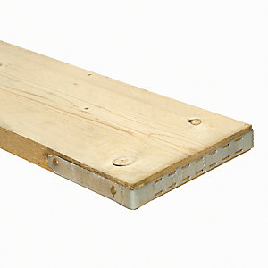 Wickes Timber Scaffold Board - 38 x 225 x 2400 mm