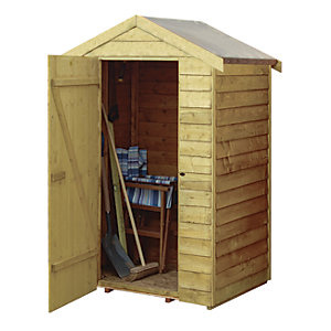 Rowlinson 4 x 3 ft Overlap Wooden Shed