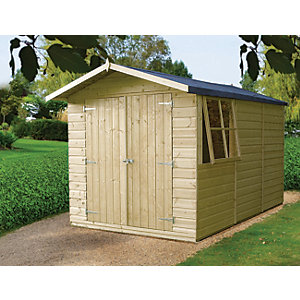 Shire 10 x 7 ft Modular Timber Double Door Shiplap Shed