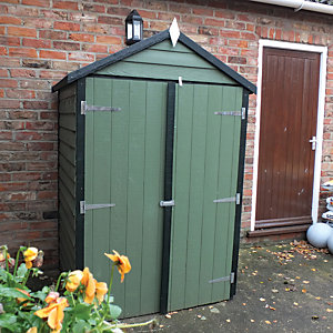 Shire 4 x 3 ft Overlap Timber Double Door General Purpose Garden Storage Shed