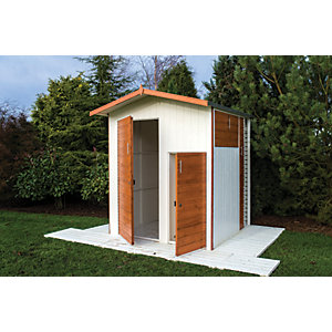 Shire 6 x 6 ft Unique 4 Door Apex Timber Multi Storage Shed