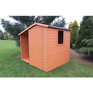 Shire 7 x 6 ft Tongue & Groove Shed With Side Storage