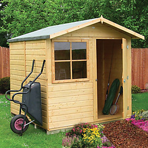 Shire 7 x 7 ft Abri Decorative Garden Shed With Overhang