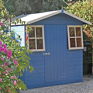 Shire 7 x 7 ft Casita Decorative Shed with Overhang & Opening Windows