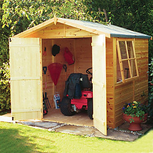 Shire 7 x 7 ft Double Door Timber Shiplap Apex Shed