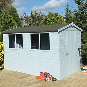 Shire 8 x 10 ft Easy Assembly Timber Shiplap Apex Shed