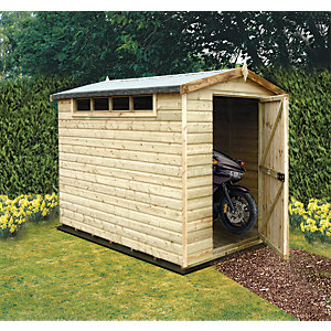 Shire 8 x 6 ft Security Timber Apex Shed