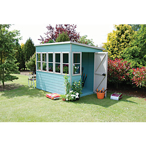 Shire 8 x 6 ft Timber Pent Potting Shed
