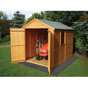 Shire 8 x 6 ft Warwick Tongue & Groove Double Door Shed
