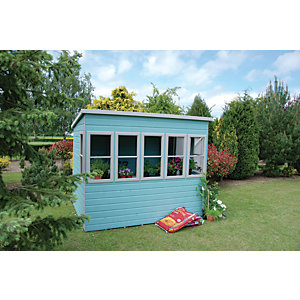 Shire 8 x 8 ft Timber Pent Potting Shed with Opening Windows