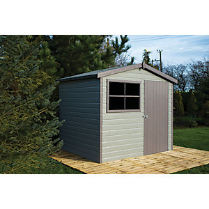 Shire Large Timber Apex Shed with Opening Window - 10 x 8 ft Best Price, Cheapest Prices