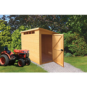 Wickes 6 x 9 ft Security Timber Pent Shed with High Level Windows