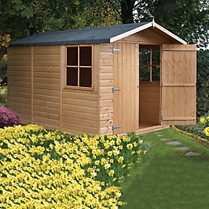 Wickes 7 x 10 ft Double Door Timber Shiplap Apex Shed