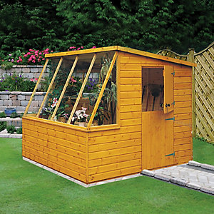 Wickes 8 x 6 ft Pent Potting Shed with Stable Door Best Price, Cheapest Prices