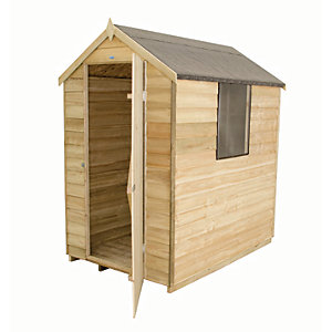 Wickes Overlap Pressure Treated Apex Shed - 4 x 6 ft