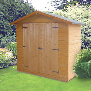 Wickes Shiplap Dip Treated Timber Shed Honey Brown - 6 x 3 ft