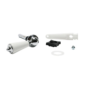 Euroflo By Fluidmaster White Ceramic and Chrome Plate Cistern Lever