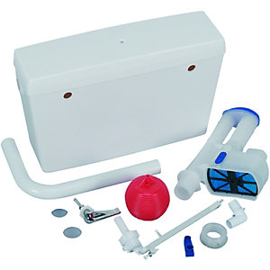 Wickes 9L Low Level Plastic Cistern - White 510 x 150 x 327mm