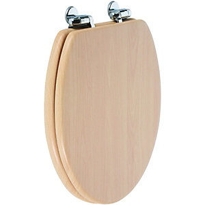 Wickes Soft Close Toilet Seat - Beech Wood Effect