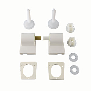 Wickes White Soft Close Plastic Hinge Pack