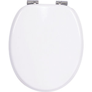 Wickes Wood Effect Soft Close Toilet Seat - White