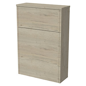 Wickes Tallinn Halifax Oak Freestanding Toilet Unit - 870 x 600mm
